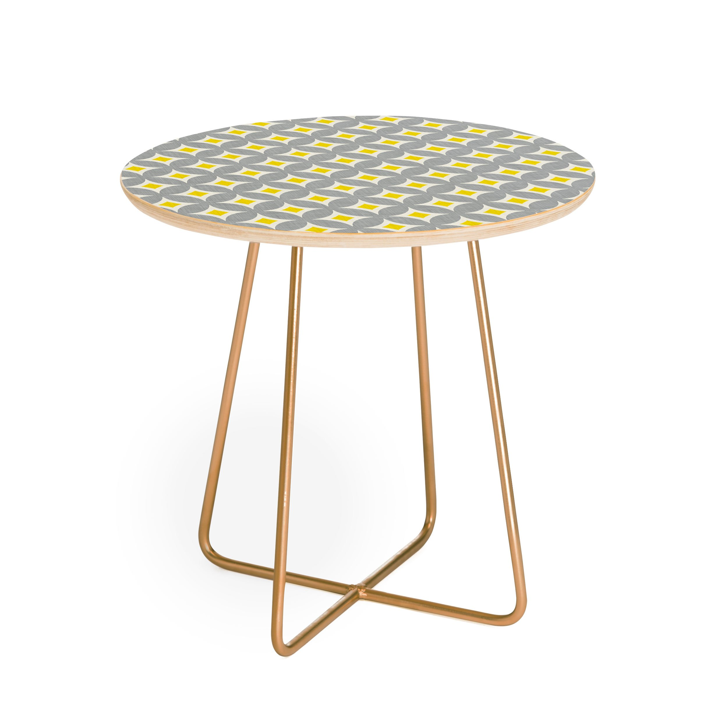 diamond circles yellow round side table holli zollinger white background square aston gold outdoor accent collapsible end target desks and chairs large contemporary coffee corner