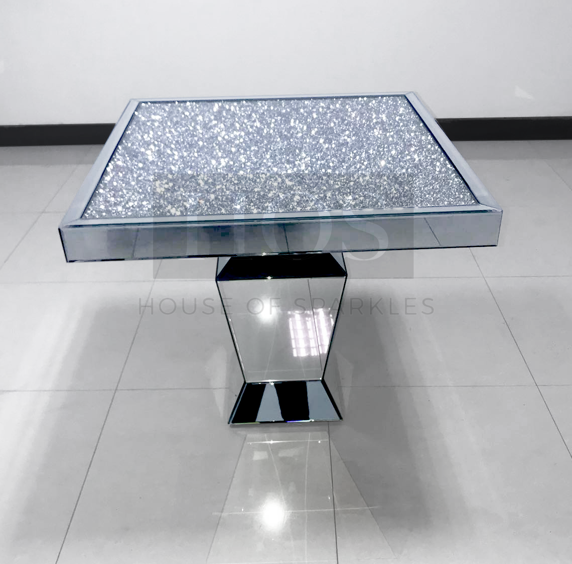 diamond crush mirrored dining table future place accent furniture sparkle house sparkles occasional bedroom chairs sofa for small space living room light colored wood end tables