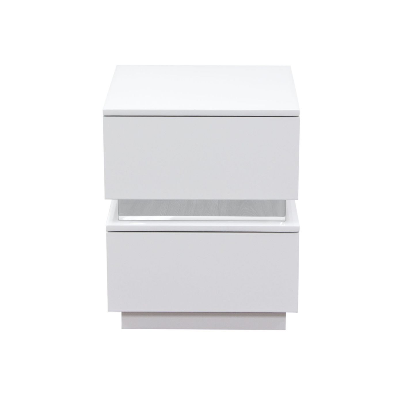 diamond sofa elle drawer accent table high gloss white nightstands ellenswh nightstand with drawers parsons desk wrought iron lamps garden chairs seat for drums counter height