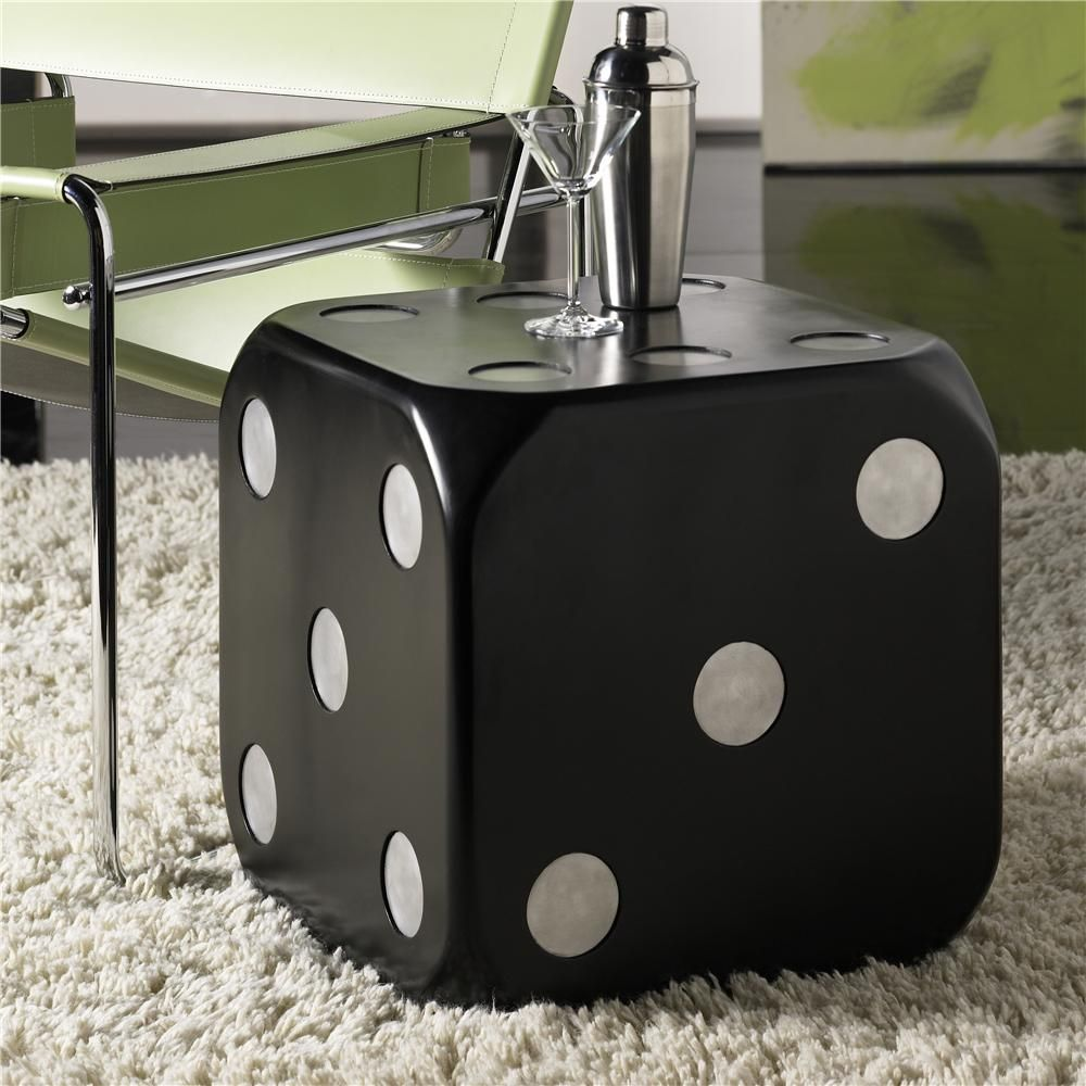 dice accent tables table design ideas uttermost hidden treasures end hammary wolf furniture affordable modern concrete and chairs patio chair covers mid century leather sofa cut