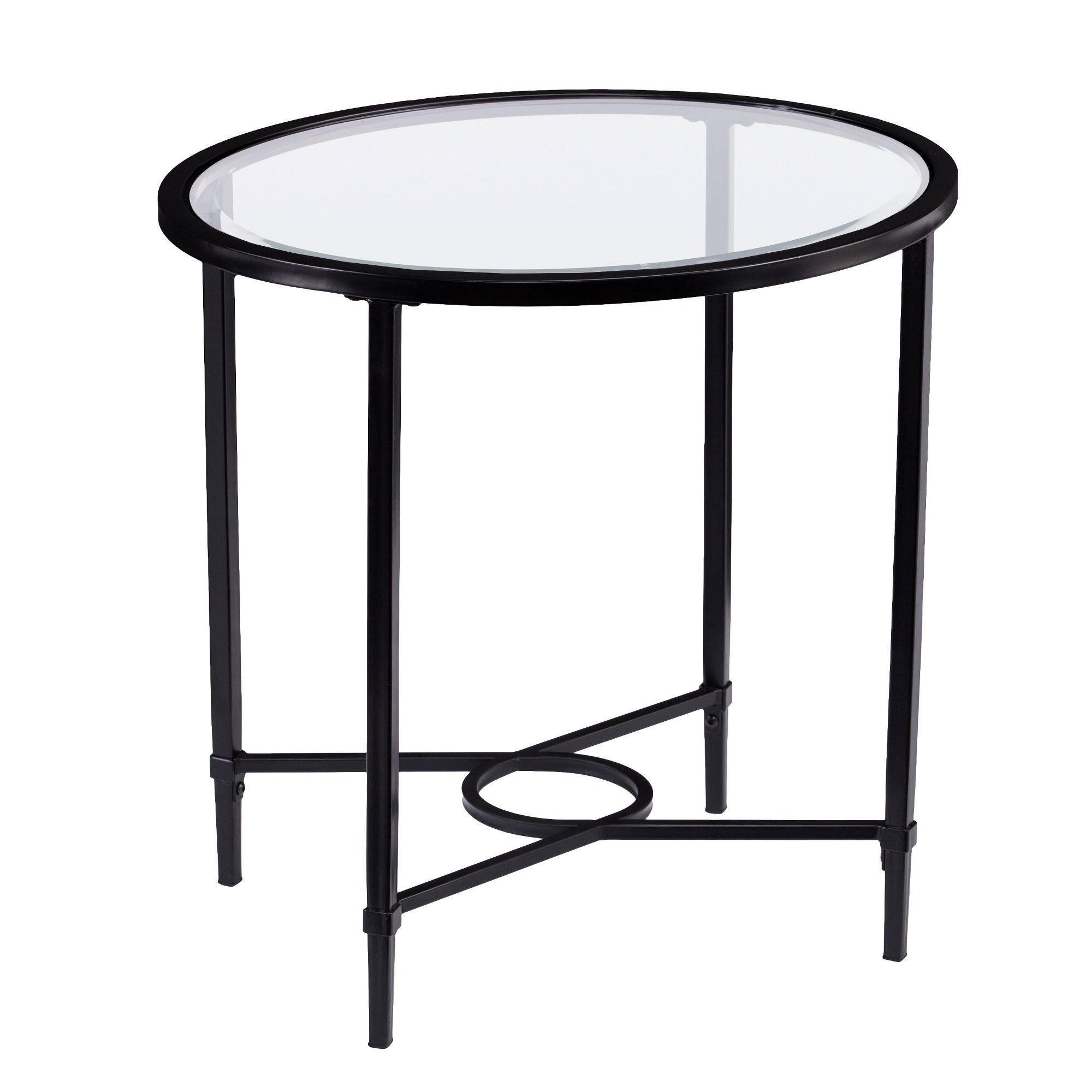 dickinson metal glass oval side table black aiden lane small accent pottery barn white bedside wood stool pier mirrored turquoise console high top kitchen coffee solid trestle