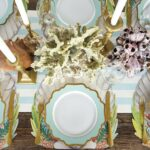die cut shell placemat products table dining area accent our was beautifully hand painted elizabeth foster collaboration with hester cook this perfect for any ocean plastic patio 150x150