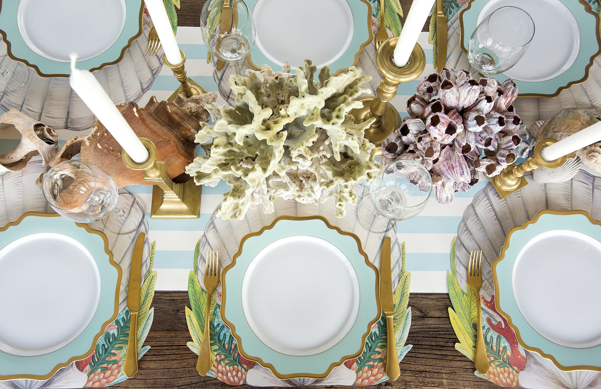die cut shell placemat products table dining area accent our was beautifully hand painted elizabeth foster collaboration with hester cook this perfect for any ocean plastic patio