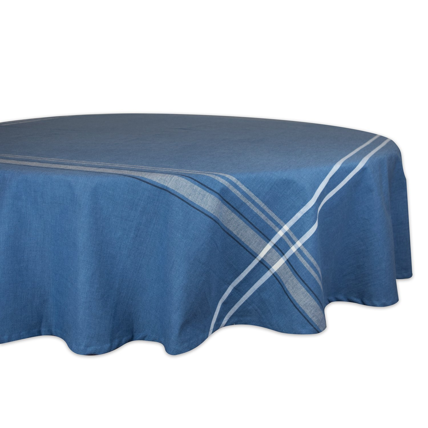 dii cotton machine washable everyday french round accent tablecloth stripe kitchen for dinner parties summer outdoor nics seats ikea living room furniture pier one imports dining