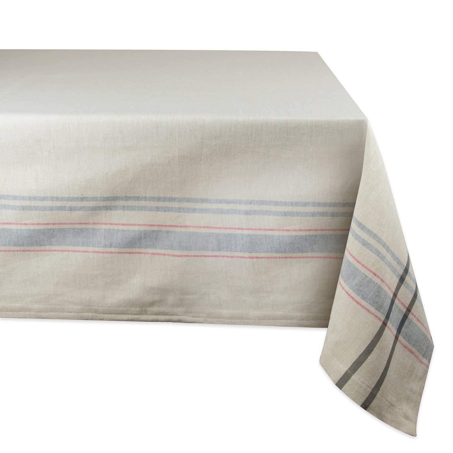 dii cotton machine washable everyday french round accent tablecloth stripe kitchen for dinner parties summer outdoor nics seats industrial small table metal top end very narrow