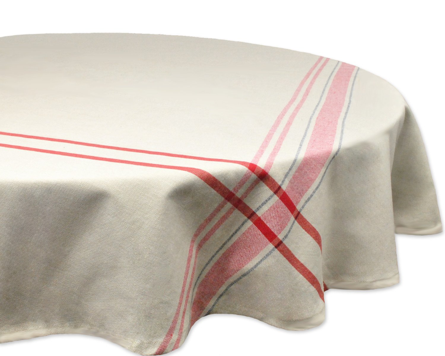 dii cotton machine washable everyday french round accent tablecloth stripe kitchen for dinner parties summer outdoor nics seats people clearance lawn furniture bedside table cover