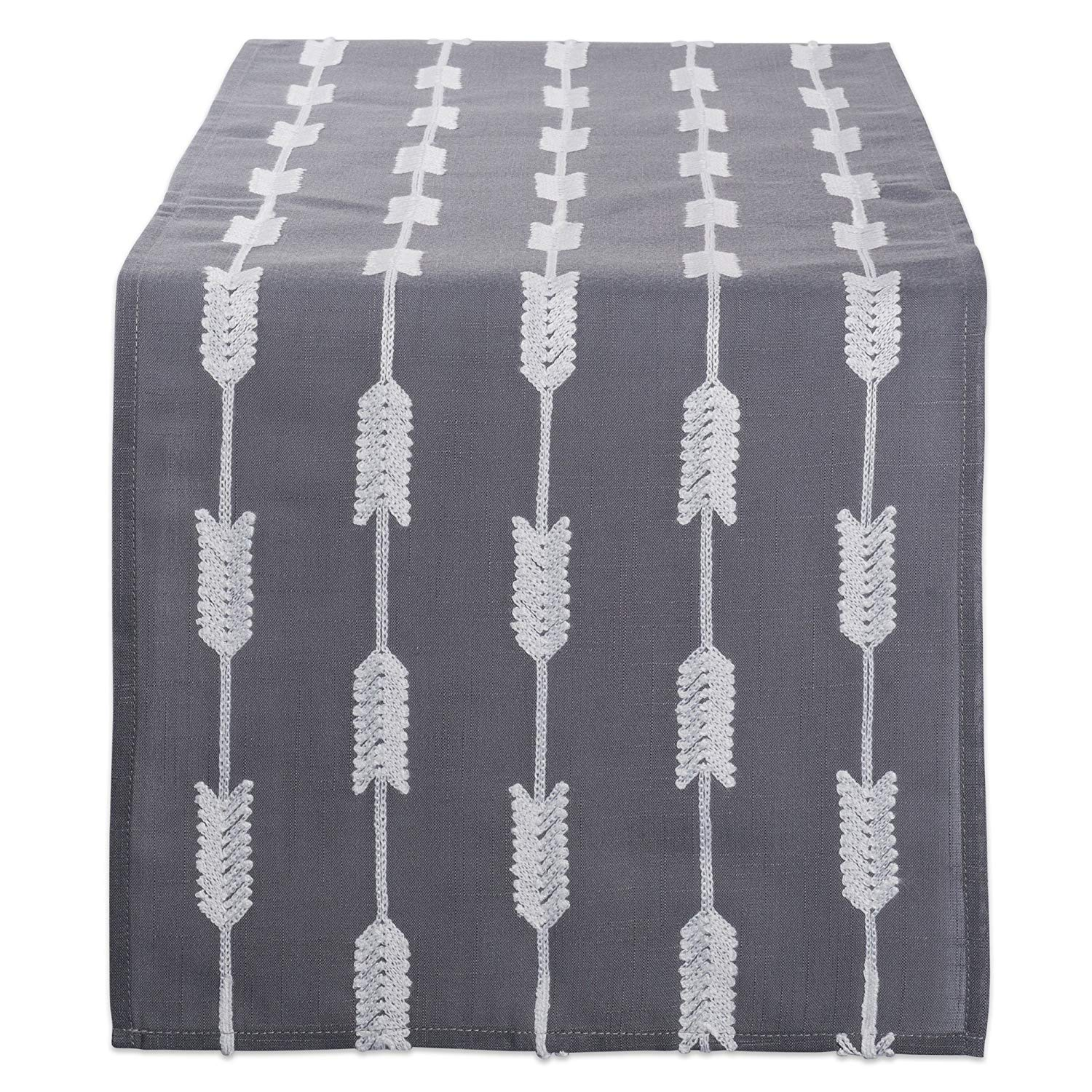 dii polyester embroidered table runner for spring garden artistic accents tablecloth party summer bbq baby showers and everyday use arrows gray base home pier one imports dining