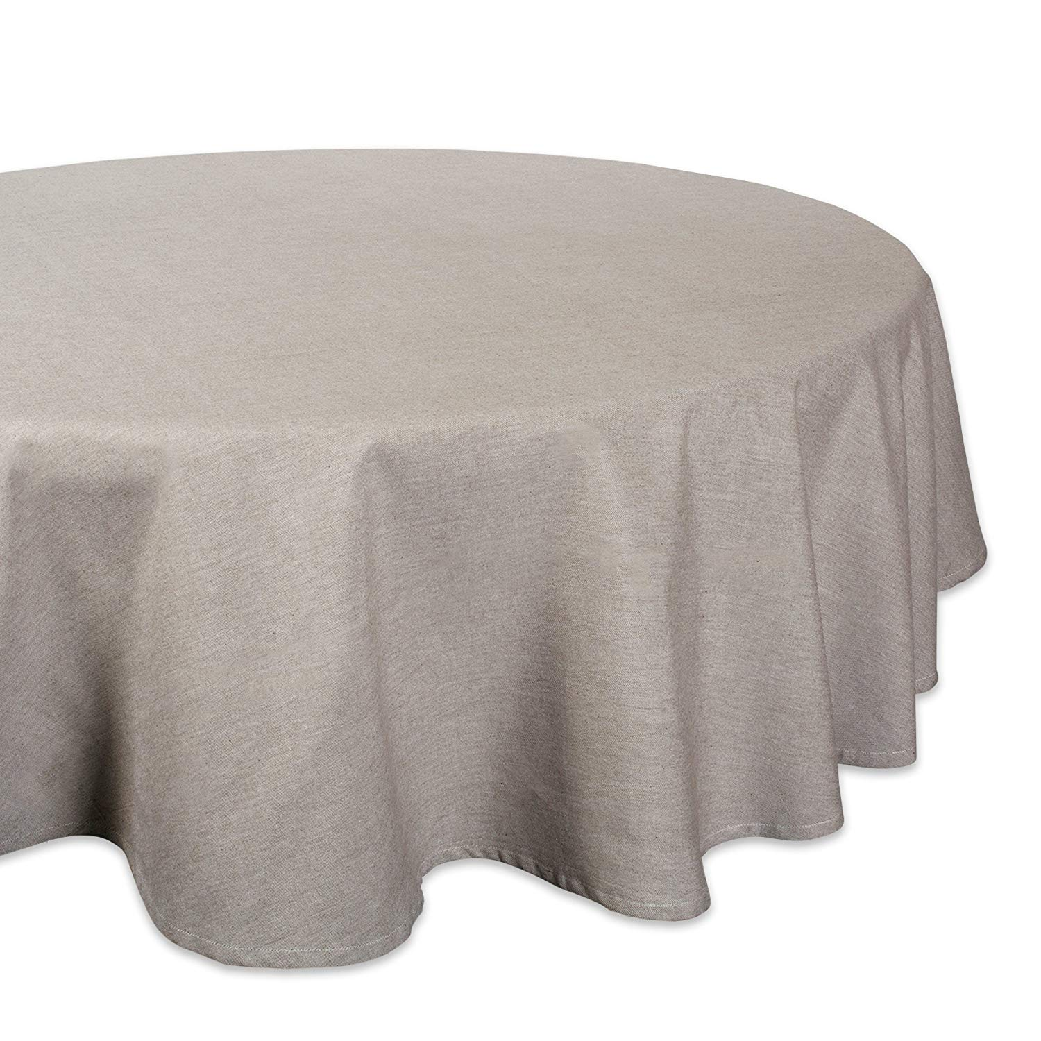 dii stone solid chambray tablecloth round accent home kitchen modern furniture runner rugs farmhouse door high back dining room chairs industrial small table topper patterns