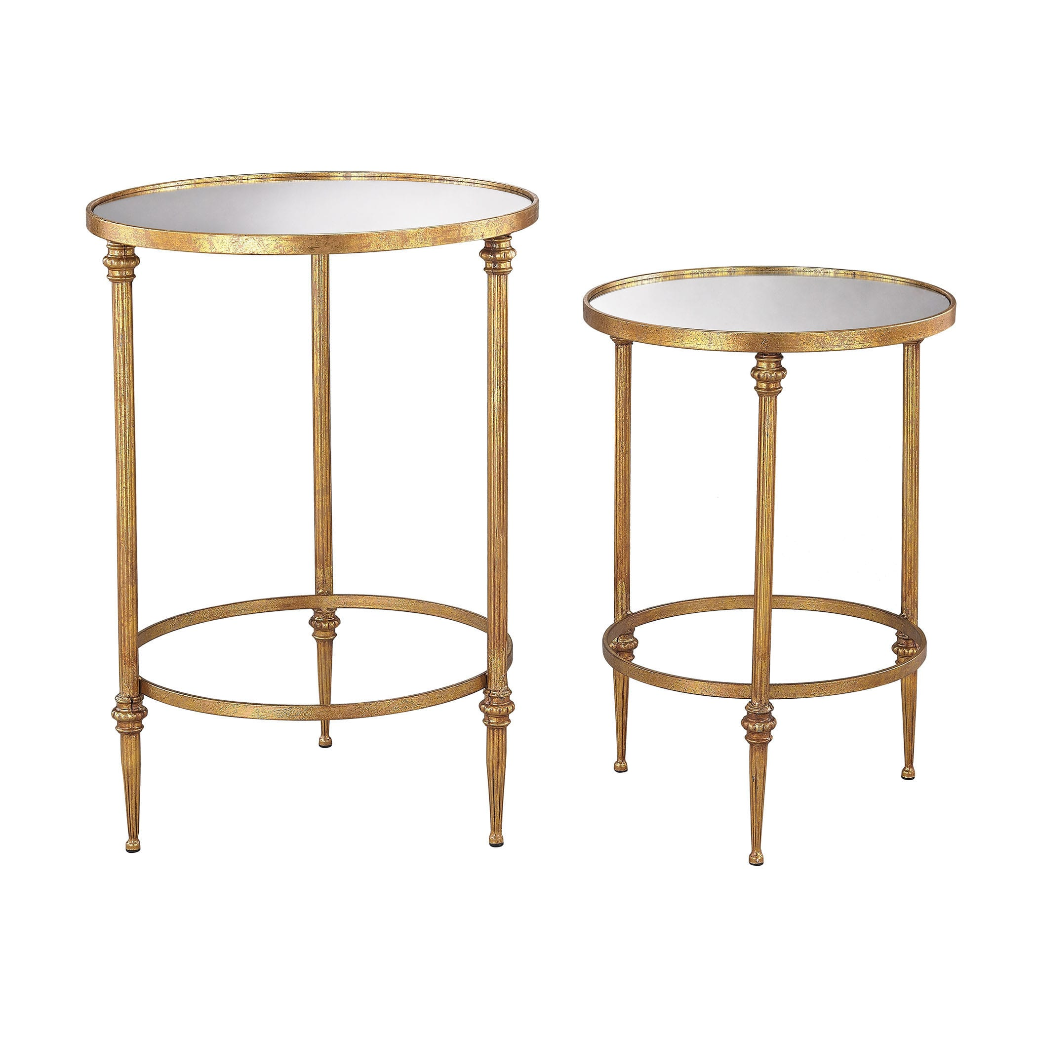 dimond home alcazar accent tables antique gold and mirror with matching mirrors free shipping today patio umbrella carved wood side table nate berkus sheets base coastal console