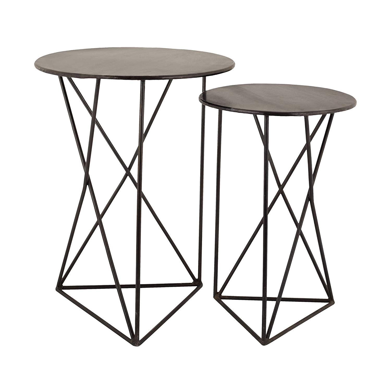 dimond home geometric metal accent tables round glynn table set kitchen dining lift top coffee ikea christmas decor dark wood and drum shaped wooden side small mosaic contemporary