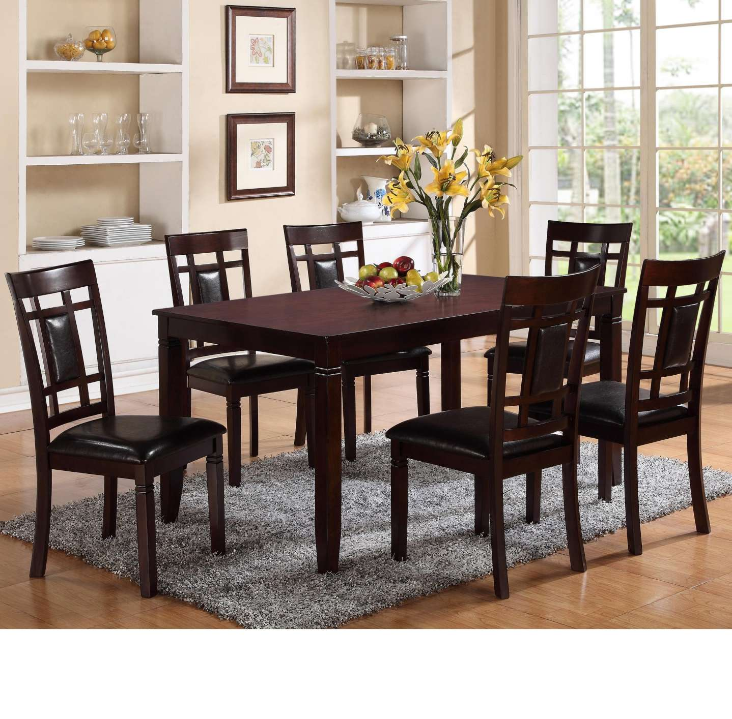 dining room accent pieces also small wall decor ideas meilleur scpi crown mark paige piece table and chair set with block feets home design cloth placemats grey patio furniture