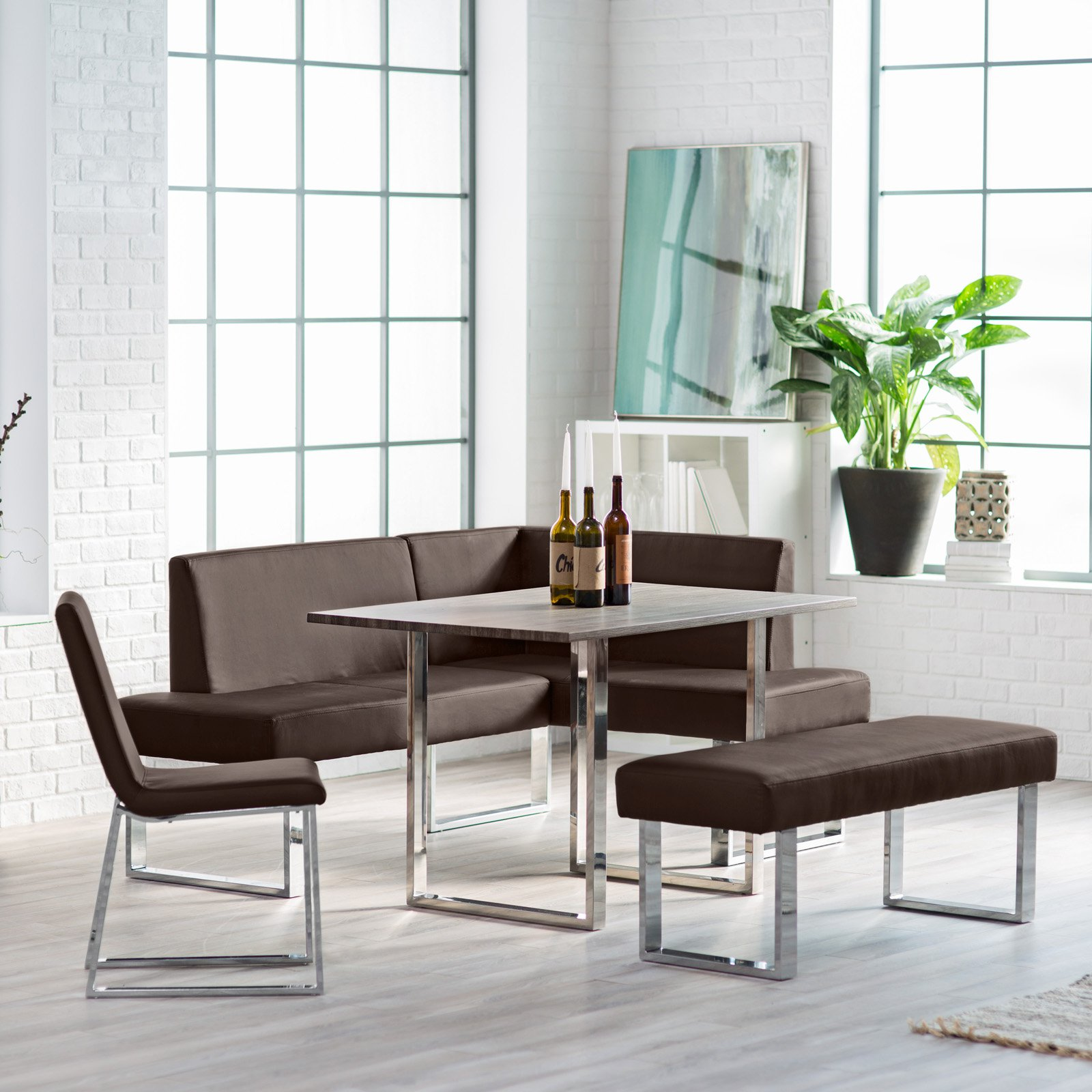 dining room cool furniture design with cozy nook set kitchen corner breakfast tables and chairs contemporary table sets accent for small entryway marble designs metal side legs
