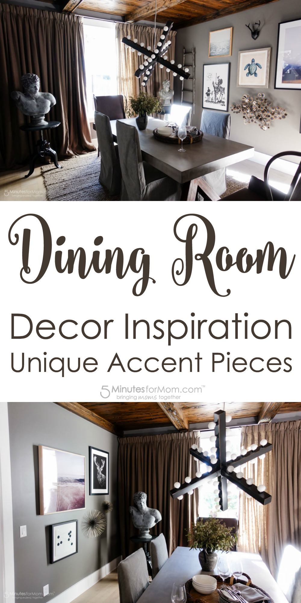dining room decor inspiration unique accent pieces minutes for mom table outdoor lounge furniture storage target shoe pottery barn folding wood patio end full wall mirrors small