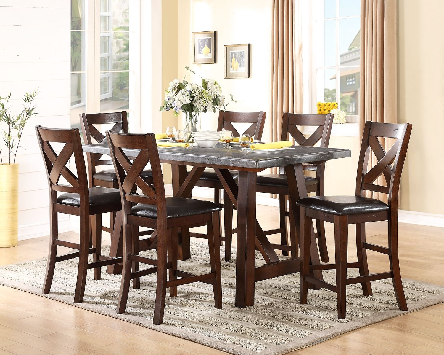 dining room furniture bluestone piece counter height table accent pieces living bedroom and youth along with mattresses pottery barn folding outdoor storage large white round