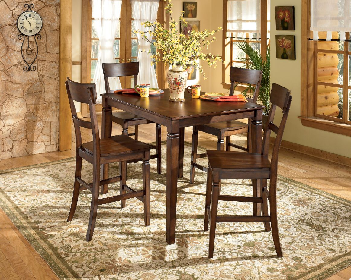 dining room set ashley furniture table and chairs rustic sets dinner accent tables full size wood farm for tight spaces round cotton tablecloth knotty pine end office desk counter