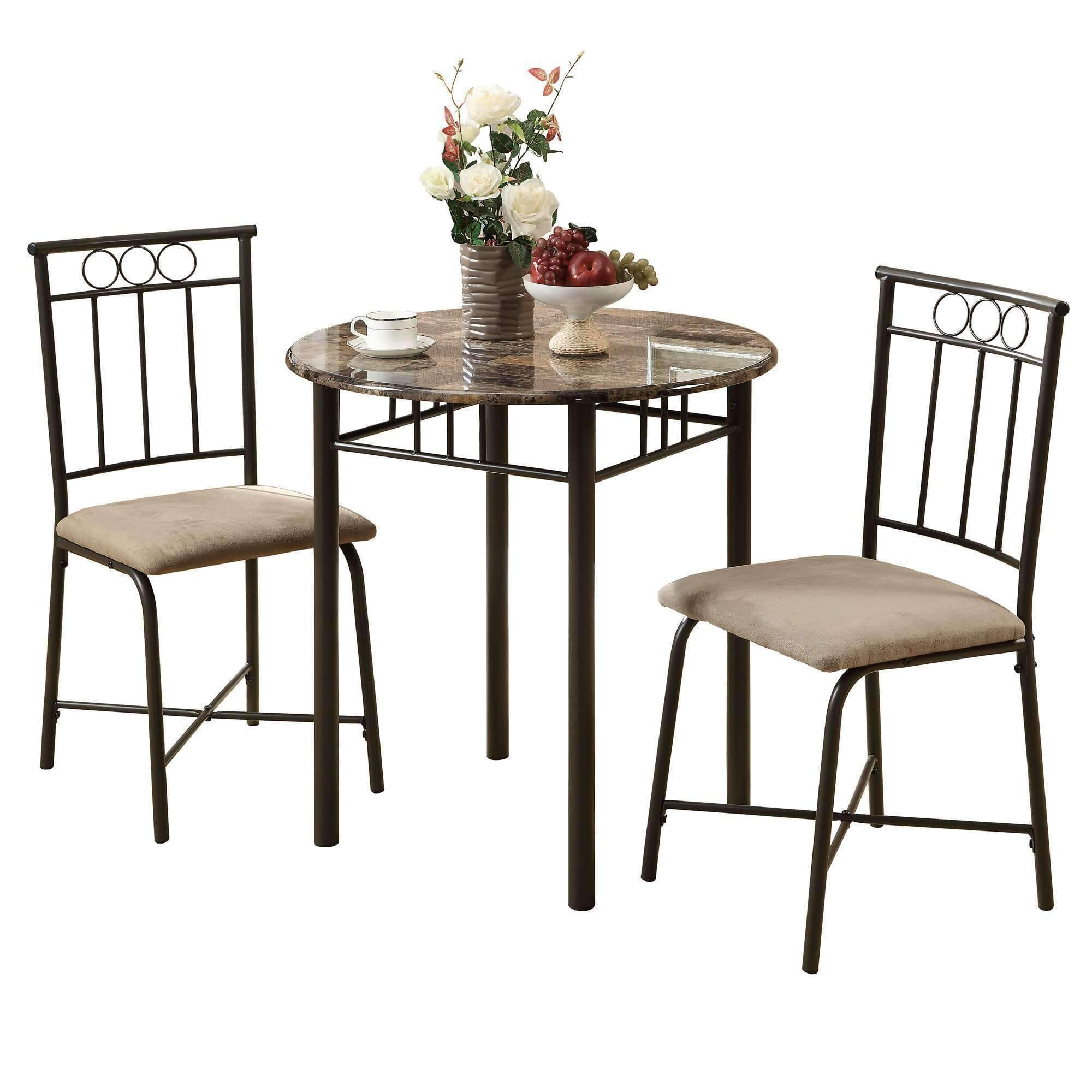 dining set cappuccino marble bronze metal products monarch accent table wicker furniture beach umbrella stand floor wine rack outdoor melbourne globe light fixture mirrored end