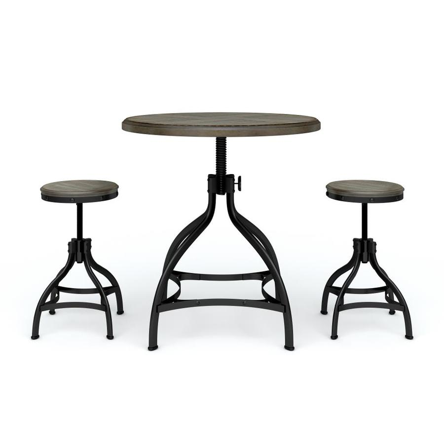 dining sets ave six piece fabric chair and accent table set whalen brown with round crystal desk lamp patio side solid wood tables placemats coasters furniture wine shelf pottery