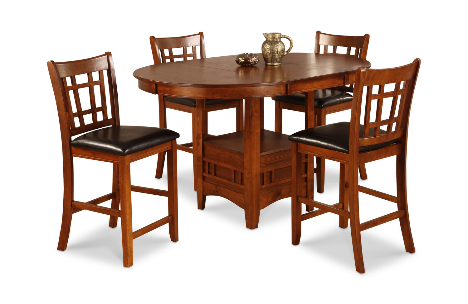 dining sets kitchen room hom furniture ave six piece fabric chair and accent table set mission park counter stools modern style narrow hall cupboard palm tree lamp inch nightstand