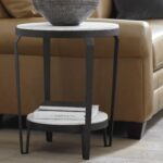 discoveries white marble tier table top accent cream colored nightstand high living spaces bedroom sets outdoor wicker and chairs round industrial coffee stackable side tables 150x150