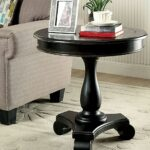 distressed black tables small tall antique glamorous round pedestal large oak diy end wood accent table charming bedside unfinished full size vitra eames chair replica mirrored 150x150