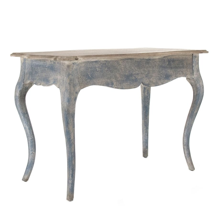distressed blue console table furniture painted accent paint counter height kitchen and chair sets victorian lamps contemporary dining room chairs nautical pendant pune inch legs