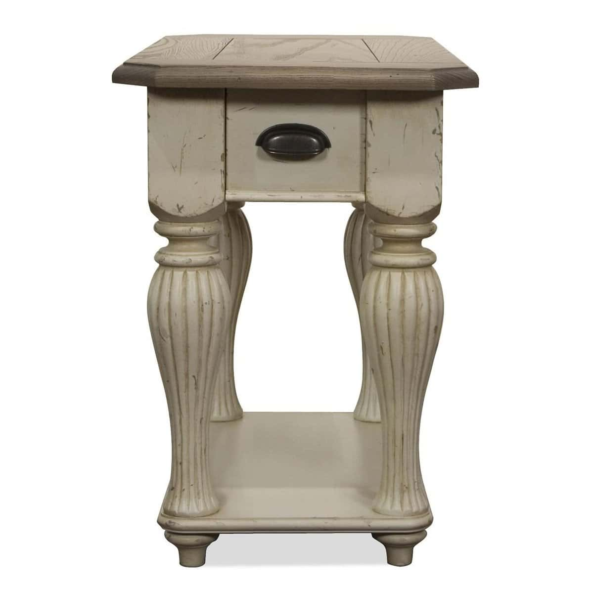 distressed end tables coffee loccie better homes gardens ideas grey quatrefoil table with mirror accent foot console piece living room glass set lanterns chairside ikea bath and