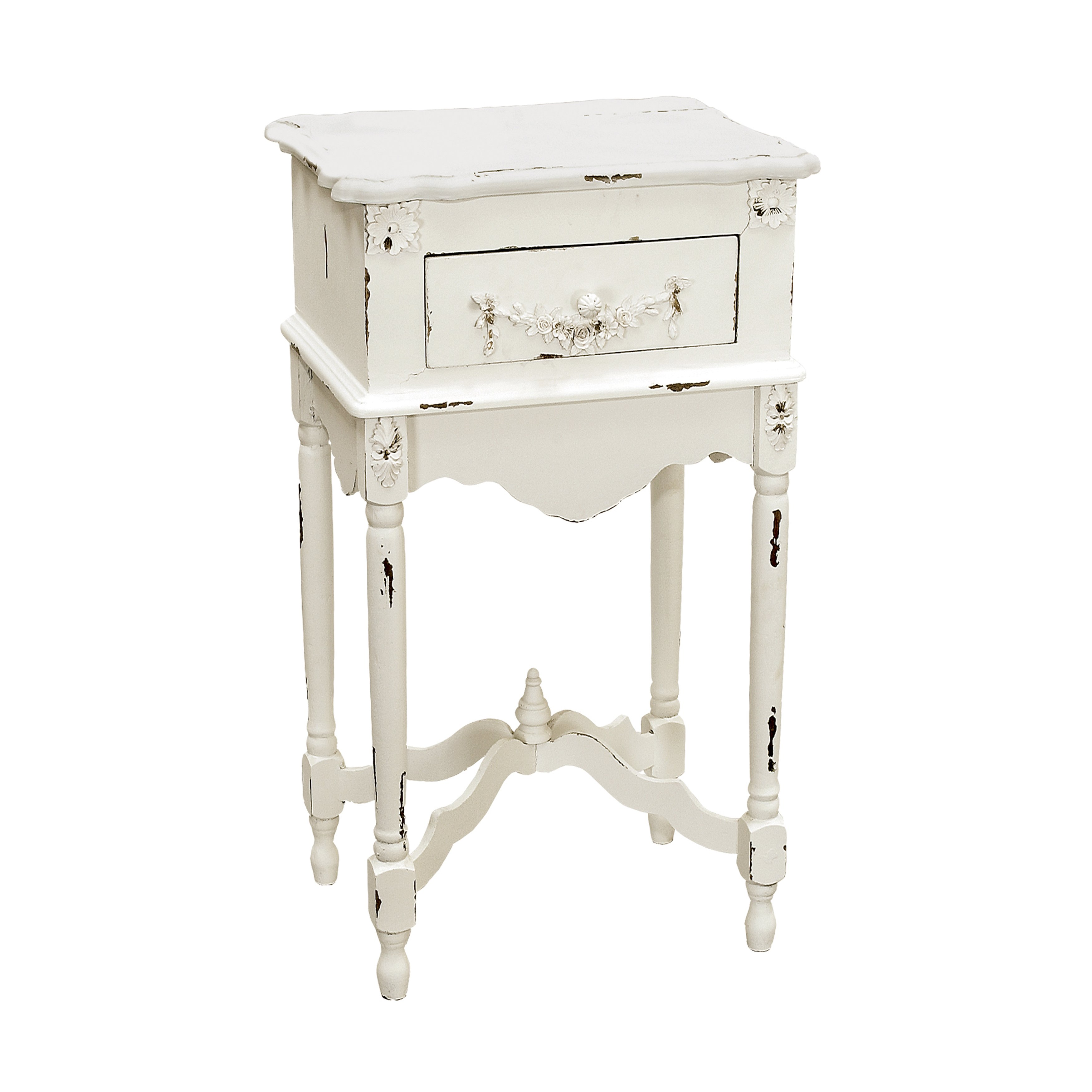 distressed hand painted antique white finish accent chest tables chests free shipping today dining room doors counter height set with storage teal blue table coffee square acrylic