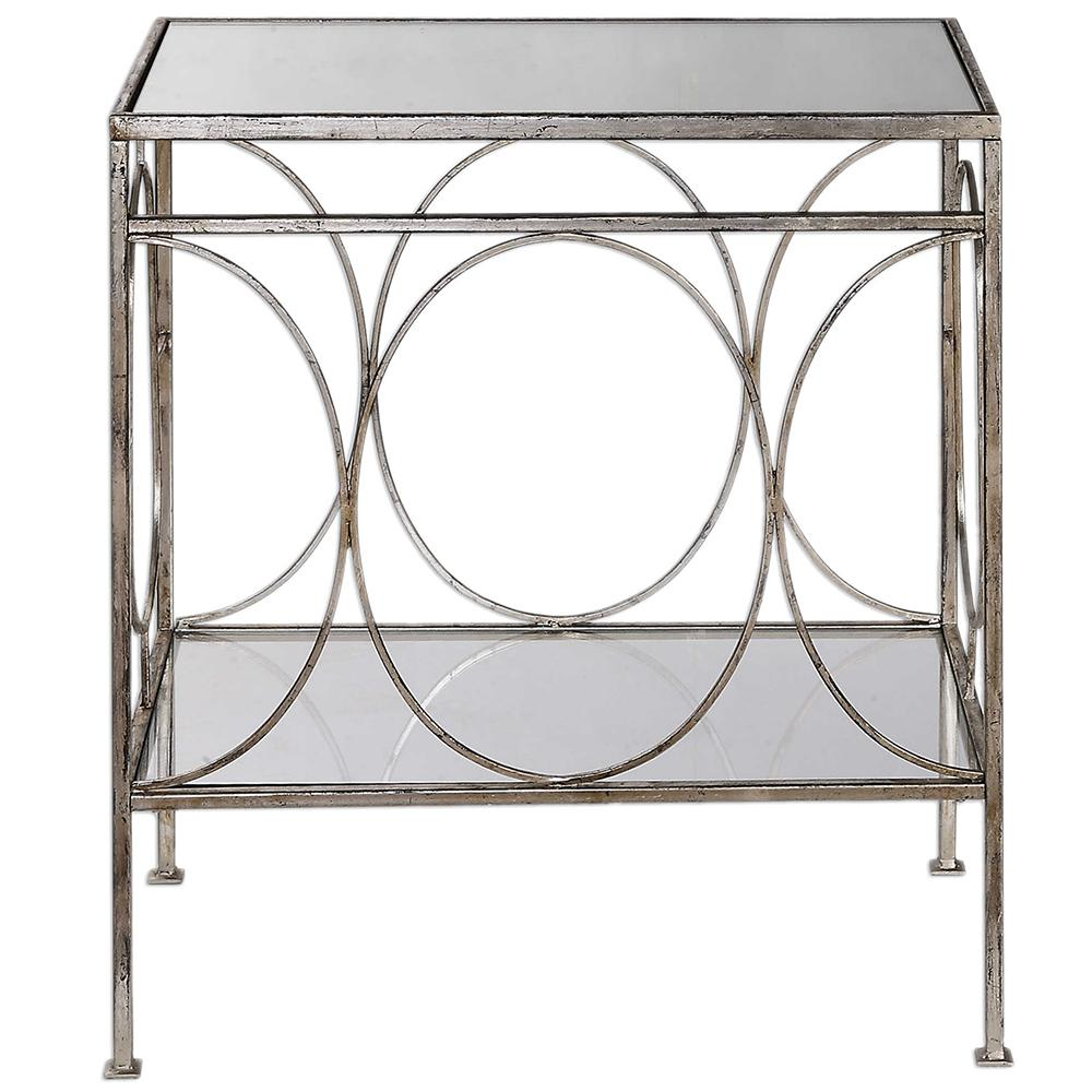 distressed silver leaf accent table with glass top scenario home hayden furniture black garden side small half moon white patio low coffee oil rubbed bronze tall occasional