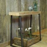 distressed wood storage accent console table from pulaski teal nautical reclaimed ott legs smoked glass coffee barnwood dining lamps plus tables round patio end pier natural 150x150