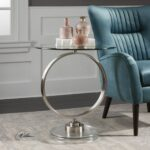 dixon contemporary brushed nickel round accent table uttermost mid century modern dining set granite console orient lighting ikea desk mission style antique furniture small tables 150x150