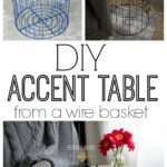 diy accent table from wire laundry basket house home with baskets made for less than bar cabinet pottery arn beach cottage decor oak dining set marble ashley coffee and end tables 150x150
