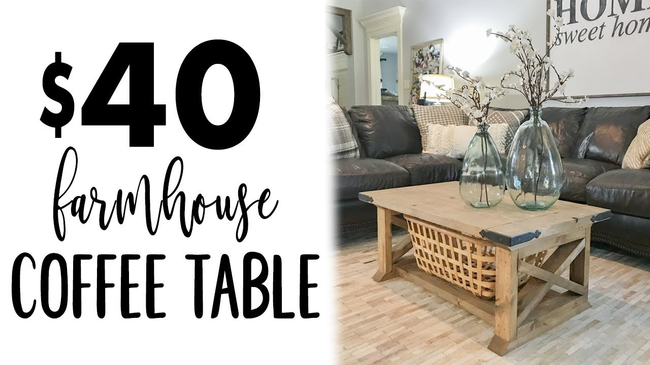 diy board farmhouse coffee table small accent brown dining chairs desk rectangular outdoor narrow farm round foyer entry west elm gold lamp tool storage cabinet white and trestle