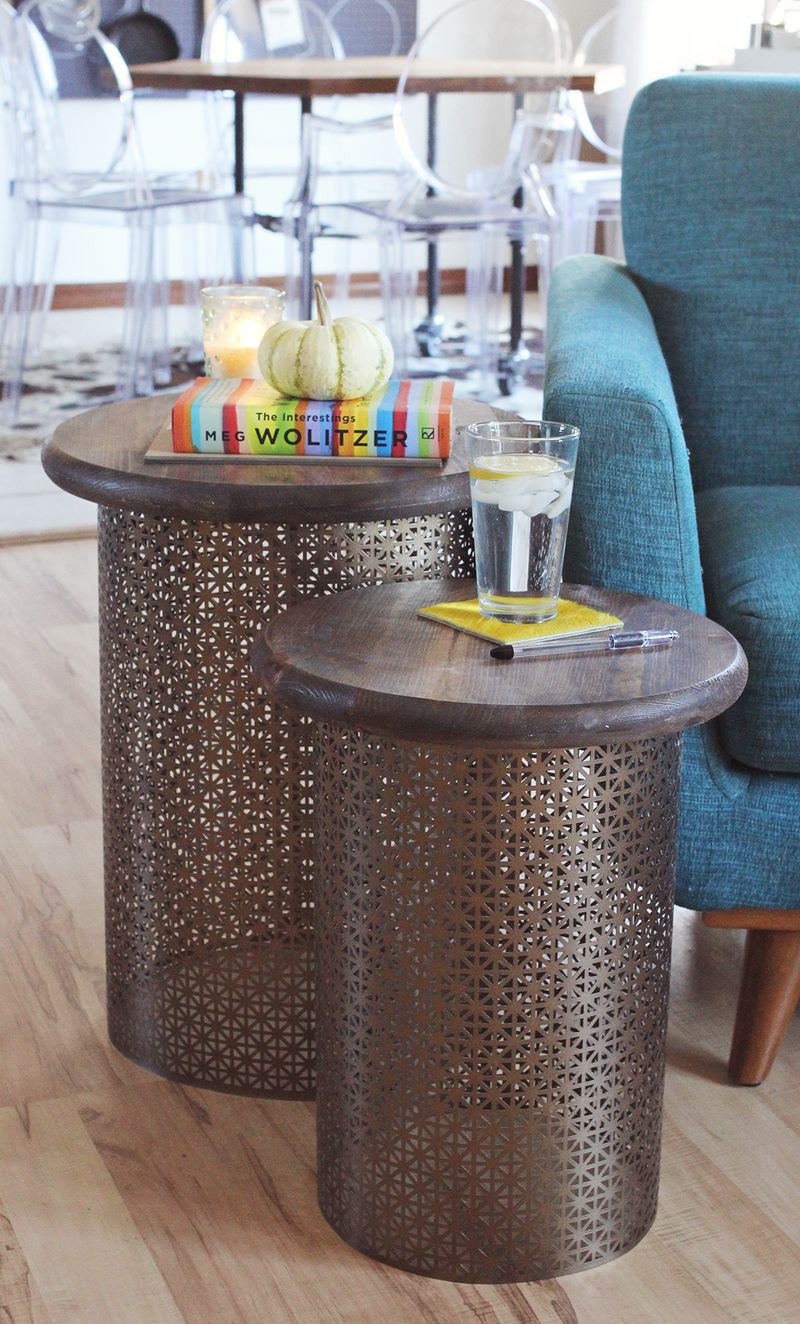diy brass side tables beautiful mess garden patio accent table outdoor all weather wicker furniture west elm industrial desk small vintage console aluminum door threshold hand