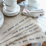 diy burlap placemats the wood grain cottage img table accent placemat kitchen island what color sage nautical post light hampton bay outdoor dining set gold and glass metal floor 150x150