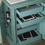 diy charging station ideas make more tidy cables accent tables with charing wood families shoebox wall easy desk bedside nightstand projects modern lamps white living room cabinet 150x150