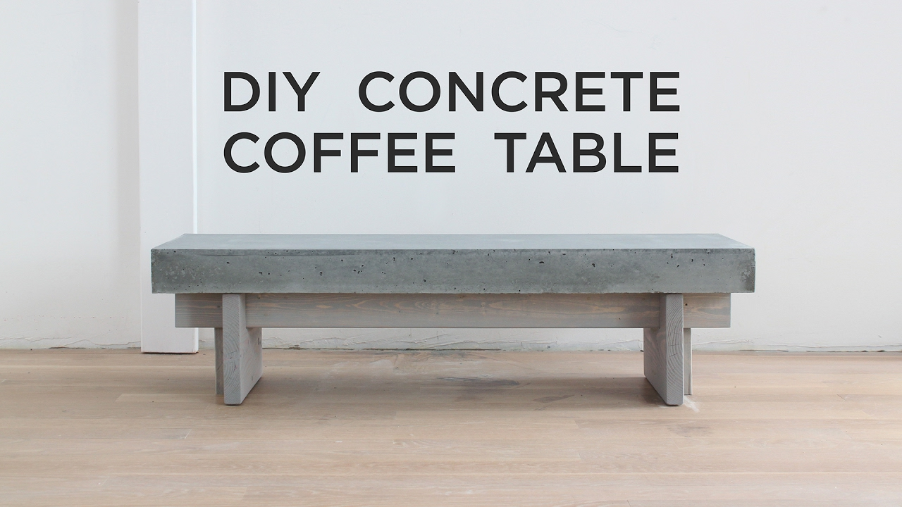 diy coffee table with concrete top outdoor side nautical end lamps dark gray tables glass shelf wood and nest brass drum throne seat only half accent chair storage rustic style