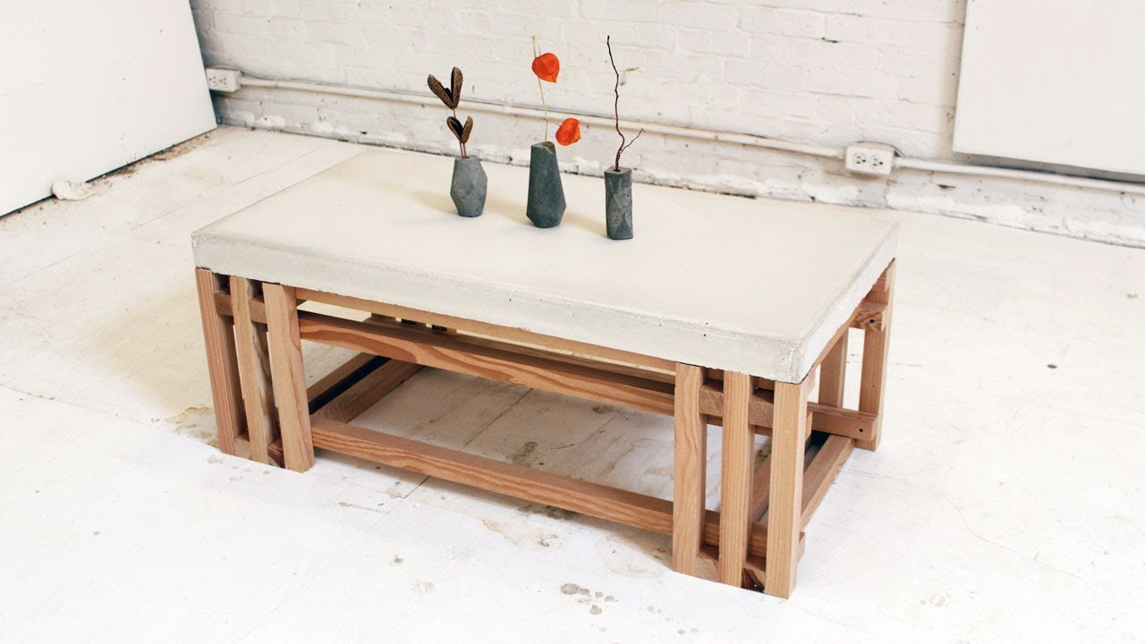 diy concrete coffee and side tables table accent plans tall patio office end target occasional round wood white with drawer sliding barn doors silver grey tablecloth top square