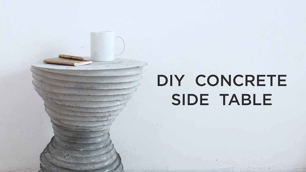 diy concrete side table casting experiments outdoor accent breakfast bar and stools soccer game macys coffee tables for living room bbq grills quilt runner patterns mid century