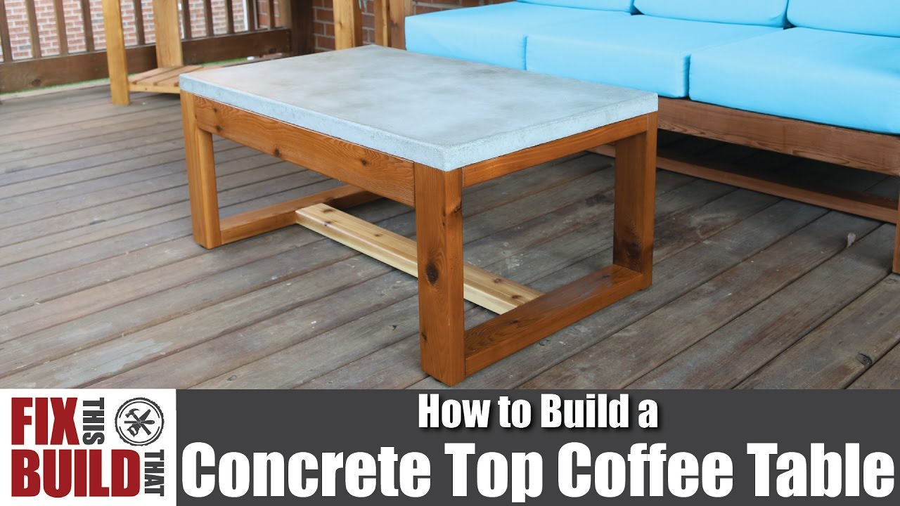 diy concrete top outdoor coffee table how build glass side corner television stand kmart cushions wide bedside cabinets gold square ikea large wood end wicker patio set nice