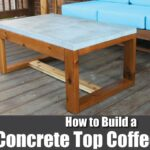 diy concrete top outdoor coffee table how build side with umbrella hole square glass barn style mission lamp dining hampton furniture ethan allen round foremost accent target 150x150