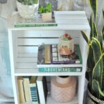 diy crate side table for easy storage eclectic craft decor rustic corner accent love this idea using crates make fast and inexpensive book case old dining drop leaf with folding 150x150