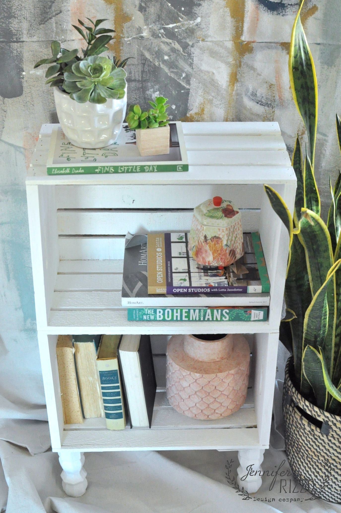 diy crate side table for easy storage eclectic craft decor rustic corner accent love this idea using crates make fast and inexpensive book case old dining drop leaf with folding