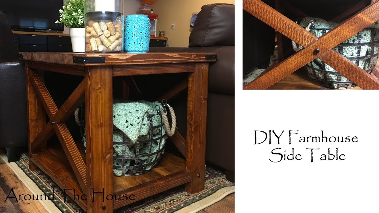 diy farmhouse side table accent plans glass chest drawers ashley furniture end tables coffee keter beer cooler pottery barn reclaimed wood decoration ideas tiffany style lamp