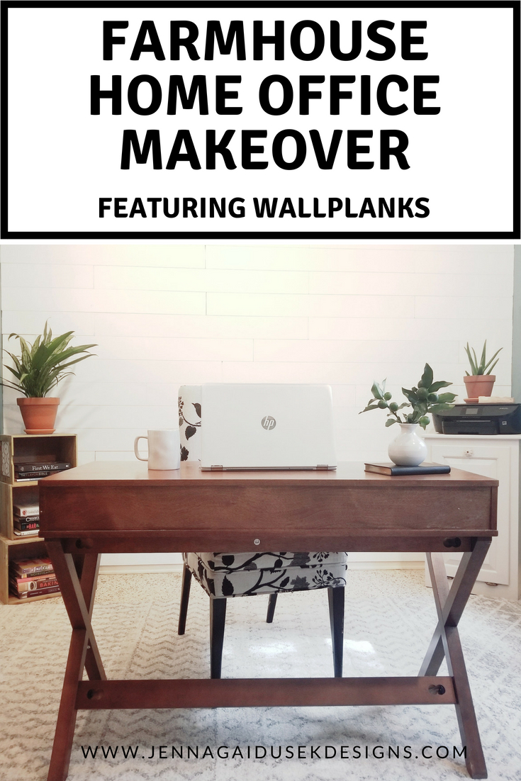 diy farmhouse wallplank office transformation jenna gaidusek designs peel and stick accent wall home decorating check out modern makeover panels create beautiful white shiplap