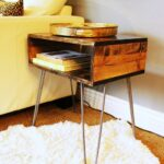 diy hairpin leg side table angle view wood slab accent low contemporary coffee tables small corner cabinet house hall decoration ideas garden half moon center design round metal 150x150