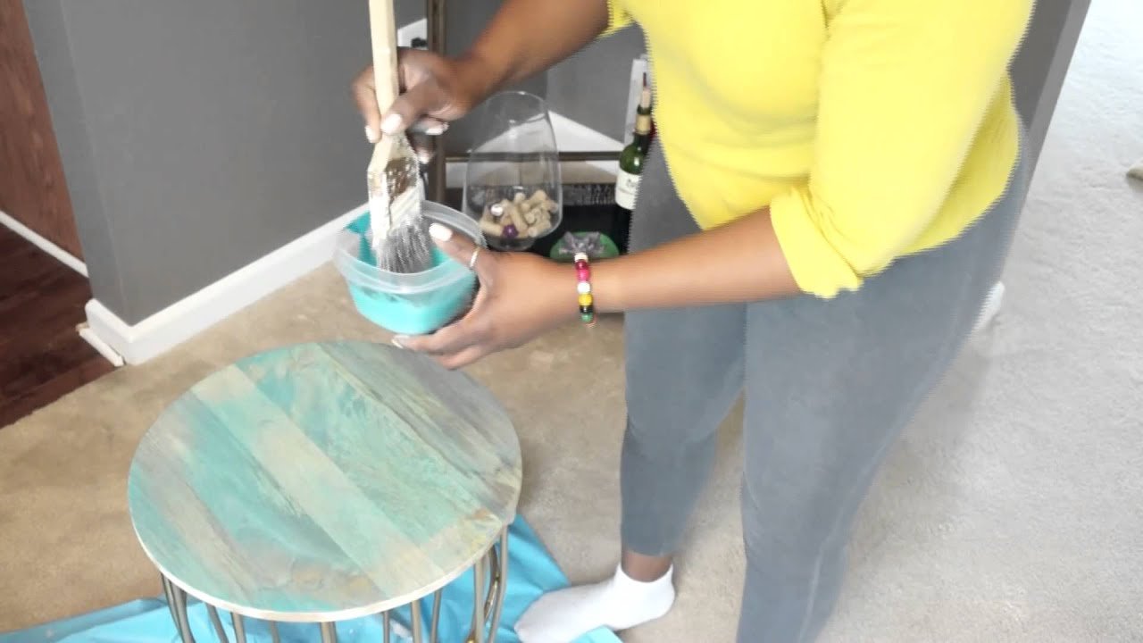 diy how customize accent table from target teal floor pieces rustic dining centerpieces small dark wood telephone side furniture bath and beyond wedding registry list room chairs