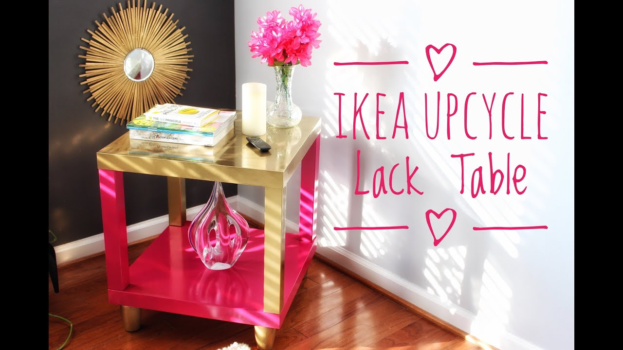 diy ikea hack lack accent table super easy gold clear glass nest tables plus tablet usb end cube coffee furniture pretty beds tiled garden and chairs dining room linens aluminum