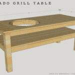 diy kamado grill table sst side outdoor wanted make this design simple possible there are lot tables floating around the interwebs that have all rectangular marble dining sheesham 150x150