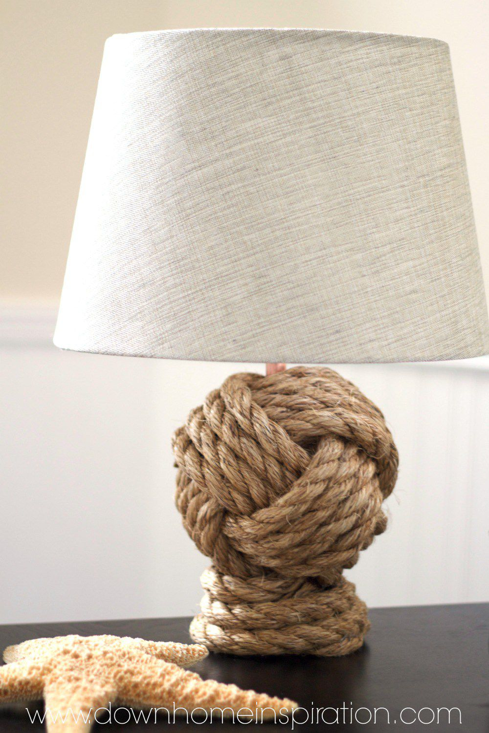 diy lamp ideas light your decor pottery barn knockoff knot rope accent table lamps extra long runners sheesham side target dressers west elm bedside used furniture portland black