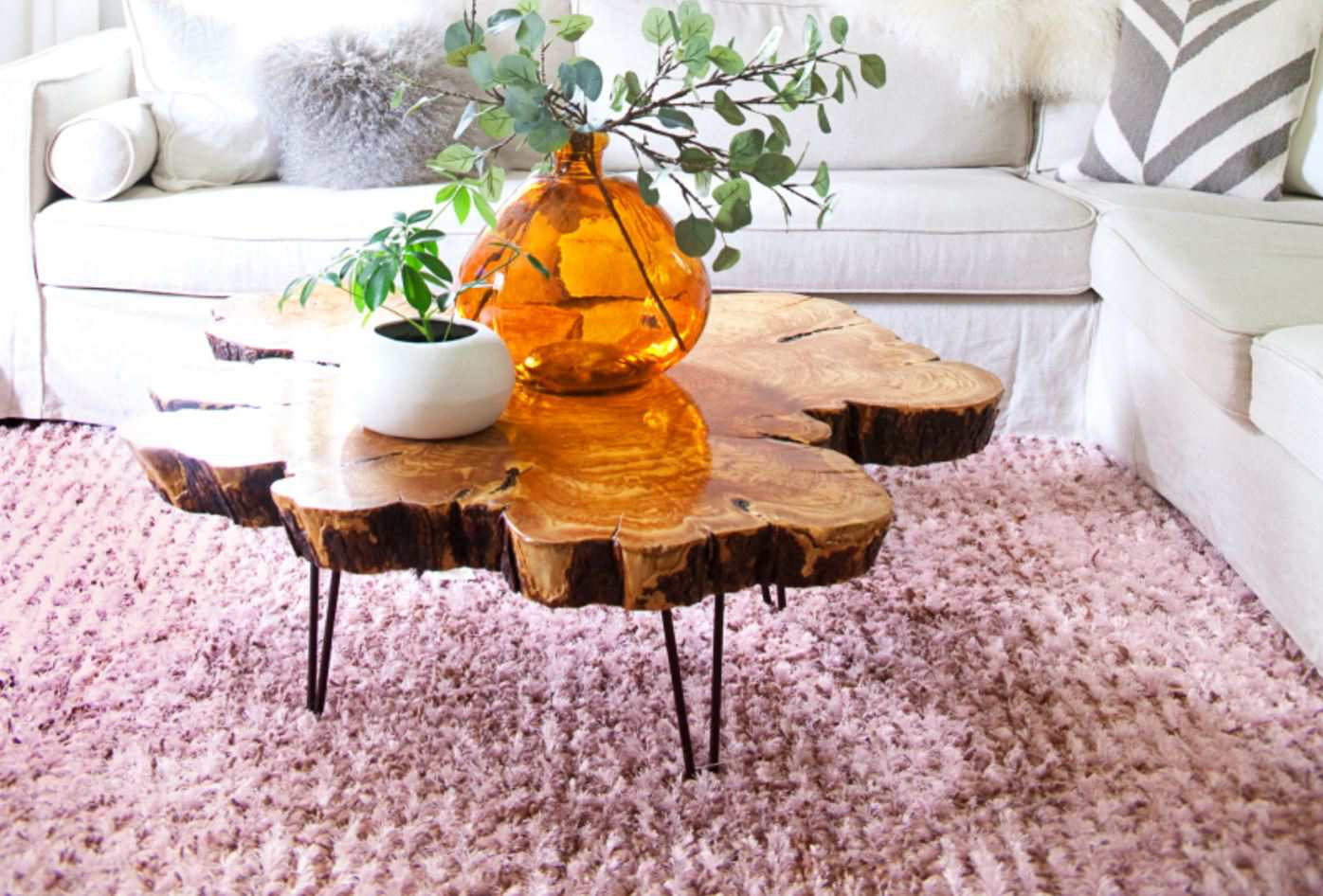 diy live edge wood projects for your home coffee table accent brown candle centerpieces hexagon end media console furniture crystal lamp black and white marble matching side